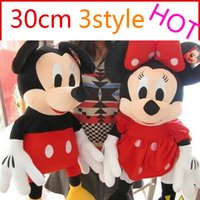 mickey mouse plush toy - 2014 Hot Sale cm Mini Lovely Mickey And Minnie Mouse Christmas Stuffed Animals Plush Toys For Children s Gift