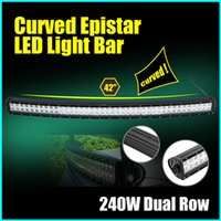 Cheap 42inch 240W Dual Row Curved Spot Flood Combo Beam Light Bar Work Light for 4WD AWD Off-Road Truck SUV Wagon Van Camper Camber