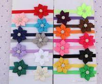big hair bows - 100pcs colors Infant Girls inch Big Flower Headbands Baby Rhinestone Ribbon Bows Headbands Headwear Children s Hair Accessories