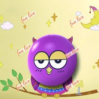 Plastic angle wallpapers - Image Light dependent Control Wall Sticker Wallpaper LED Night Light Lamp Decor for Room Household Angle Owl Stars Caterpillar