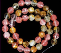 Wholesale 4 mm Faceted Multicolored Watermelon Tourmaline Gems Round loose Beads quot Strand