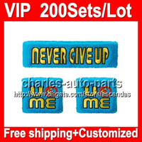sweatbands - VIP Price NEW Top Quality NEW Cyan quot Throwback quot VIP338 NEW Blue wristbands sweatbands Red wristband sweatband Factory onlie store