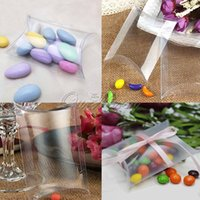 Wholesale 50Pieces New Style Clear Pillow Shape Wedding Favor Gift Box Transparent Party Candy Bag ZTTGH TMH