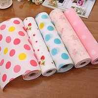 Wholesale 2016 New Color Dot Contact Paper Kids Drawer Liner Decor Mat Kitchen Decorative Placemat Desk Shelf Pad