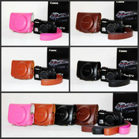 Wholesale Camera Video Bag PU Hard Leather Screw Mount Fits for CAN0N Powershot G7X Case Accessories