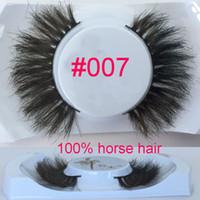 Wholesale natural messy long Horse hair false eyelashes horse hair eye lashes D HORSE eyelashes Crisscross False Eyelashes uper dense thick lashes