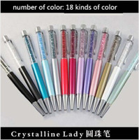 Wholesale 20PCS Top Quality Crystal Pen with Swarovski element Good Gift Crystal pen Diamond ballpoint pens for students lovers