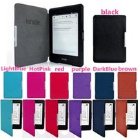 Wholesale New Arrivals Ebook Reader Accessories Kindle Paperwhite Ultra Slim Magnetic Smart Case Cover PU Leather Colors HX14