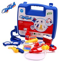 Wholesale Portable Simulation Doctors Nurses Role Play Game toy girls boys Medical Doctor Toys kit child medical Cabinet Sets for Kids