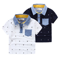 anchor sleeves - Hot quality Brand applique collar anchor pinrt boys Polo shirts short sleeve cotton boy knitted Polos Children clothing Kids years