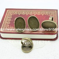 Wholesale 10pcs Fashion Vintage Adjustable Ring Bases Blanks mm Antique Bronze Cabochon Rings YM