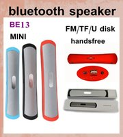 Wholesale bluetooth speakers subwoofer BE13 wireless speaker cylinder mini bluetooth speaker for cell phone mp3 player PC music outdoor speaker MIS031