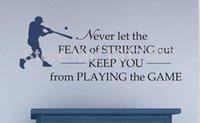 baseball wall decor - Home Decor Wall Sticker Baseball Vinyl Wall Decal Never let the fear of Striking Out boys Room Baseball