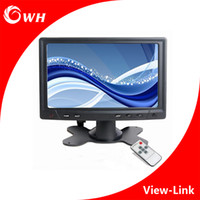 Wholesale CWH YC702 Mini quot Digital TFT LED Monitor LCD Screen Display PC Computer Car Monitors CCTV Home Camera System Monitor with VGA AV BNC