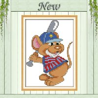baseball paintings - The sport mouse baseball decor paintings counted Printed on canvas DMC CT CT Cross Stitch kits Needlework Sets embroidery