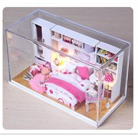Wholesale DIY Wooden Doll House Model Building Kits Wooden D Handmade Miniature Dollhouse Toy Creative Birthday Gift Perfect Wedding