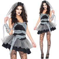 Wholesale Women Halloween Cosplay Vampire Costumes Zombie Decadence Dark Ghost Bridal styling Nightclub Princess Christmas Dress clothing DK7802CP