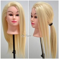 training manikins - hairdressing dolls heads quot Blonde Real Human Hair Training Head Practice Mannequin Manikin Clamp