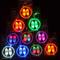 Wholesale 100pcs pairs rd Gen Glitter Shoe Laces Modes On Strobe Flashing Waterproof LED Shoelaces Colors for Sale