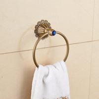antique towel rails - Luxury Design Euro Antique Brass Towel Ring Wall Mounted Towel Rack Rail