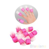 Wholesale 10x Wearable Nail Art Reusable Soaker Acrylic Tips Polish Remover Nail tools Z5 A2