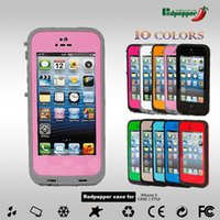 Cheap For Apple iPhone Waterproof Case Red Pepper PC Dustproof Best Plastic Pink Case defend Case for Iphone4 4s Iphone5s