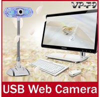 Wholesale Brand VP F9 LED USB HD Webcam Webcamera With Microphone Sucker Stand For PC Computer Laptop Notebook Web Cam Camera with Mic