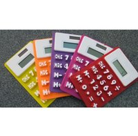 Wholesale F10061 Mini Portable Solar Powered Silicone Pocket Calculator Digit Creative