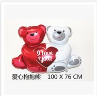 inflatable - Conjoined bear balloon inflatable helium Foil balloon for Wedding birthday party decorations balloons C1260