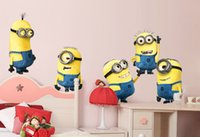 american express christmas - Cartoon The Minions Wall Stickers Wallpaper Room Sticker Movable Despicable Me Wall Decor Christmas Room Party Decoration Free Express
