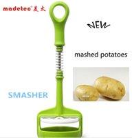 air potato - Madetec Good Helper Kitchen Tool Green Grey Potato Masher Potato Ricer air pump plastic smasher