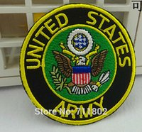 army patches lot - 7 cm United States ARMY iron on patches biker patch patches for clothing applique Embroidered vest badge