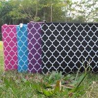 Wholesale Blanks Quatrefoil Fashion Colors Zipper Closure Kids Polyester Pencil Case via FedEx DOM103095