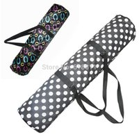 Wholesale Mini Portable dots print Yoga Mat Bag Popular gym bags yoga blanket carrier sports bag