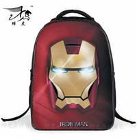 Wholesale 2016 Styles Cool The Avengers Children School Bags Boy Backpacks Cartoon Gift Travel children Bags On Sale