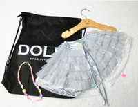 Cheap Fashion new DOLLY style shawl 2016 children tiered ruffle tulle poncho baby kids silver gray lace princess shawl INS children clothing A7759