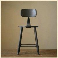 Wholesale Iron rust proof the home bar hotel bar stool high chairs Starbucks high chair bar stool bar stool Reception child