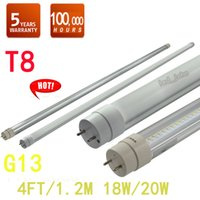 Wholesale Hight Quality Milky Clear Led Tubes T8 W W m ft SMD2835 AC V LED Bulb Lamp Fluorescent Lights UL CE PSE