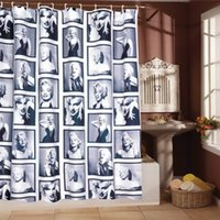 Wholesale Noble Waterproof CM Marilyn Monroe Bathroom Bath Shower Curtain within Hooks