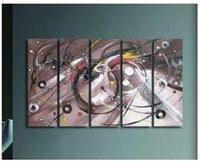 abstrat paintings - MODERN CANVAS ART OIL PAINTING Five panel abstrat decoration oil painting P91236