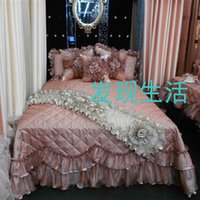bedspread fabrics - Fashion bed cover royal bed cover pseudo ginsheng piece set bed skirt bedspread fabric lace autumn and winter the mona lisa