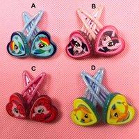 baby doll hair - 2015 New My Little Pony Baby clips girls hairpins Children Hair clips Headwear cute cartoon doll girls hairpins pairs B001