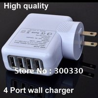 Wholesale New Ports USB Wall AC Charger Plug for ipad iphone
