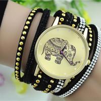 batteries elephant - New Sale Popular Diamond Jewelry Quartz Watch Women Dress Watches Relogio Feminino Fashion Elephant Pattern Bracelet Watch