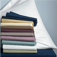 Wholesale Solid Color Bed Sheet TC S EGYPT LONG STAPLE COTTON Sateen Twin Queen King Sateen Flat Sheet High Degree of Fastness Colors