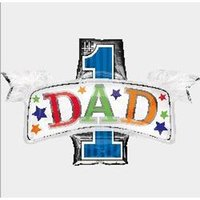 balloon dad - 5pcs Foil aluminum balloons the best dad balloon96x65cm