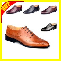 Wholesale Italian Customized drawing men good quality shoes Rust dress men shoes Full Gain leather men lace shoes