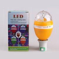 ampoule led auto - W E27 Full Color RGB LED Auto gyrophare Colorful cristal DJ ampoule parti Stage