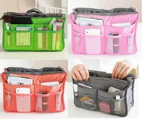 Wholesale 2016 HOT Women Travel Insert Handbag Purse Large liner Tote Bags Organizer Bag Storage Bags Amazing make up bags