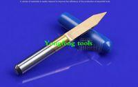 Wholesale 10pcs TIN coating degree sharp V CNC wood cutter Flat Bottom Engraving Bits router bit